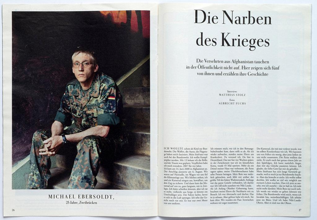 Zeit Magazin Hurt Soldiers 2010