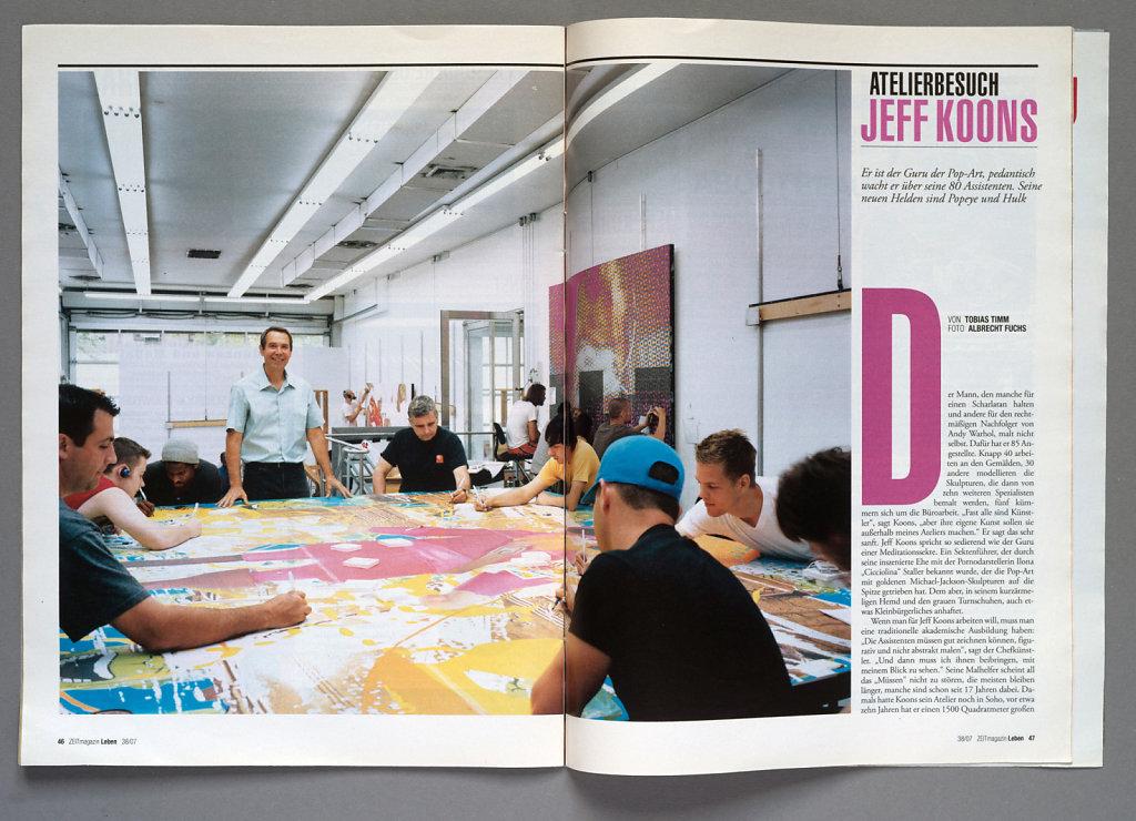 Zeit Magazin Studiovisit Jeff Koons New York 2007