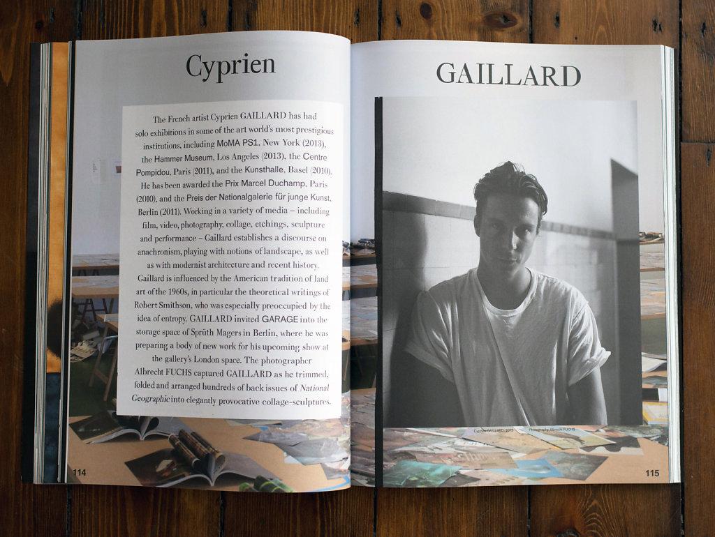 Garage Magazine Cyprien Gaillard 2013