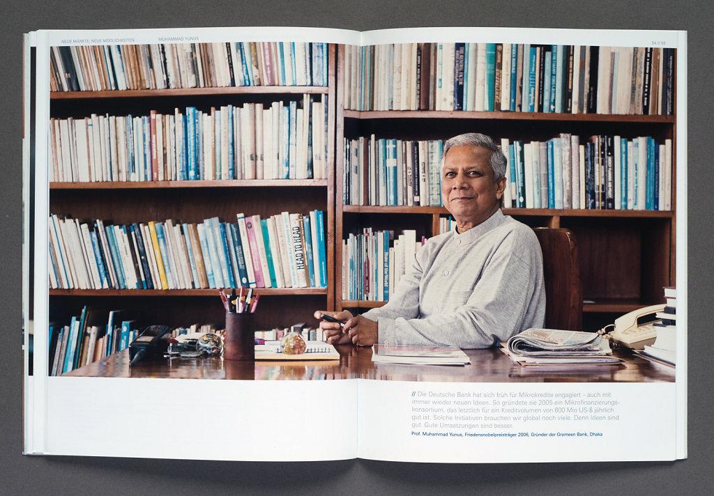 Deutsche Bank Annual Report 2006 (Prof. Muhammad Yunus, Dhaka)