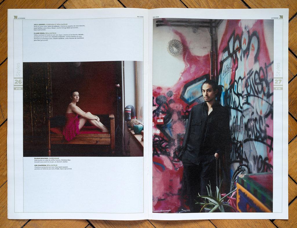 Le Monde M 2009 (Élodie Bouchez, Kim Chapiron)