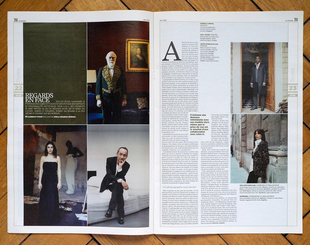 Le Monde M 2009 (Pierre Caron, Oda Jaune, Jean-Charles Blais, William Nadylam, Maiwenn)
