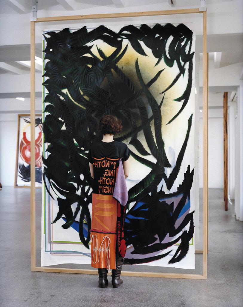 Painting Parasite - Albrecht Fuchs with DAS INSTITUT 2011