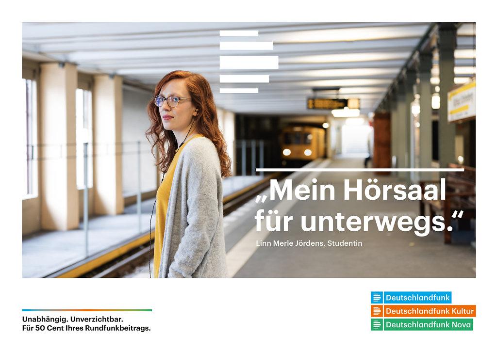 Linn Merle Jördens  Berlin 2017 for Deutschlandfunk