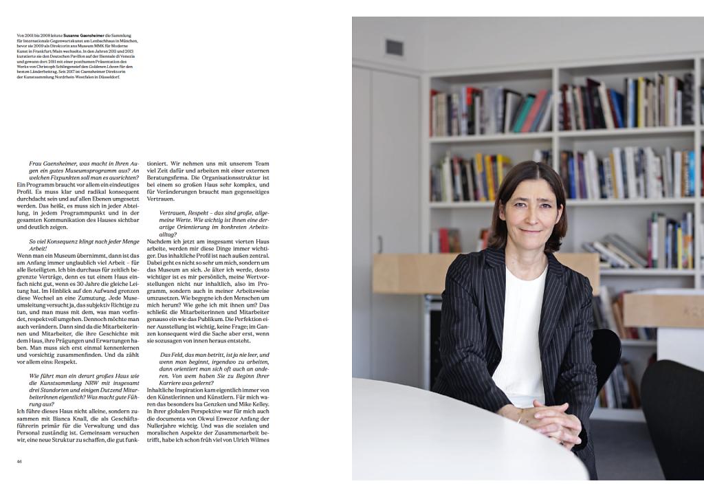 DIE DAME - Frau Direktorin - Susanne Gaensheimer - Düsseldorf 2019
