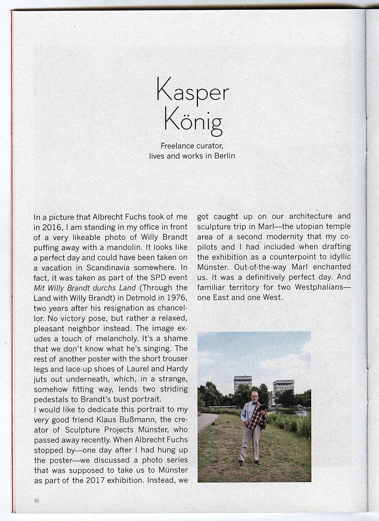 Cahier #44 Kaspar König Marl 2018